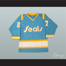 Gilles Meloche 27 California Golden Seals Hockey Jersey