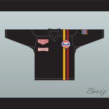 Steve McQueen Michael Delaney Le Mans Inspired Hockey Jersey Black
