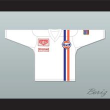 Steve McQueen Michael Delaney Le Mans Inspired Hockey Jersey White