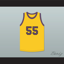 Nipsey Big Nip 55 Yellow Basketball Jersey Martin