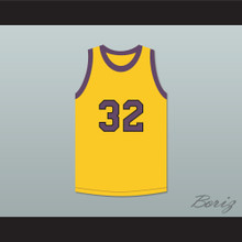 Tommy Strawn 32 Yellow Basketball Jersey Martin