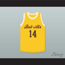 Will Smith 14 Bel-Air Academy Yellow Basketball Jersey Deluxe