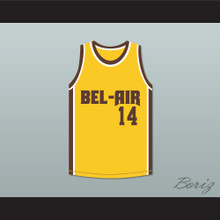 Will Smith 14 Bel-Air Academy Yellow Basketball Jersey Remix