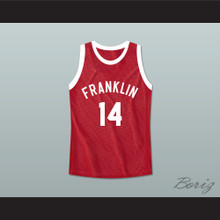 "Don Cheadle Earl ""The Goat"" Manigault 14 Benjamin Franklin High School Basketball Jersey Rebound"