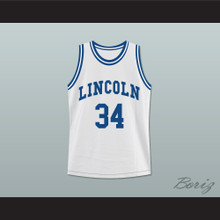 Ray Allen Jesus Shuttlesworth 34 White Lincoln High School Basketball Jersey He Got Game