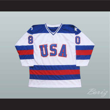 1980 USA Miracle On Ice Tribute Hockey Jersey