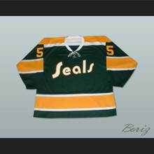 Carol Vadnais 5 California Golden Seals Tie Down Hockey Jersey