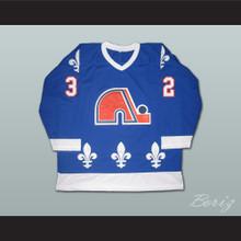 Paul Brousseau 32 Quebec Nordiques Hockey Jersey