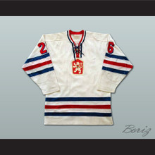 Peter Stastny Czechoslovakia Hockey Jersey White