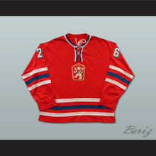 Peter Stastny Czechoslovakia Hockey Jersey Red