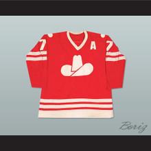 Ron Chipperfield 7 WHA Calgary Cowboys Hockey Jersey