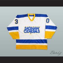 Darren Pang Saginaw Generals 30 Hockey Jersey