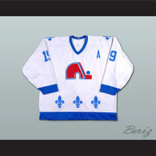 Joe Sakic 19 Quebec Nordiques Hockey Jersey White