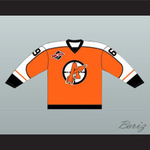 "Doug ""The Thug"" Glatt 69 Orangetown Assassins Hockey Jersey Includes NCHL Patch Orange"