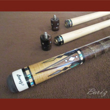 Boriz Billiards Pro Series 5 Laminated Snakeskin Leather Grip w/ Pool Cue Joint Protectors
