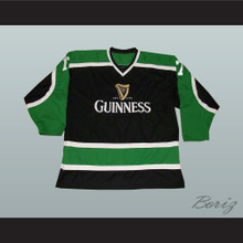 Irish Stout Beer Hockey Jersey March 17 St. Patrick's Day Black