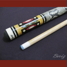 Boriz Billiards Snake Skin Grip Pool Cue Stick Original Inlay Artwork 006