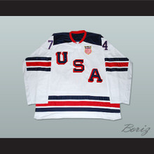 T.J. Oshie 74 USA National Team Hockey Jersey New 1960 Tribute Style
