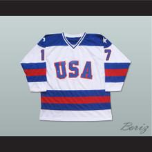 1980 Miracle On Ice Team USA Jack O'Callahan 17 Hockey Jersey White