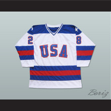 1980 Miracle On Ice Team USA John Harrington 28 Hockey Jersey White