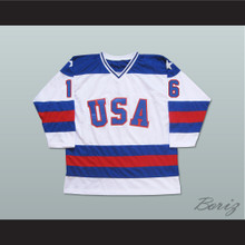 1980 Miracle On Ice Team USA Mark Pavelich 16 Hockey Jersey White