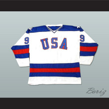 1980 Miracle On Ice Team USA Neal Broten 9 Hockey Jersey White