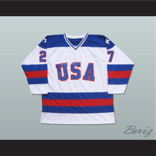 1980 Miracle On Ice Team USA Phil Verchota 27 Hockey Jersey White