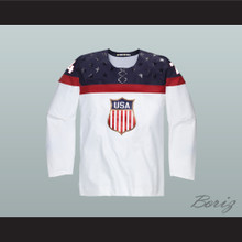 T.J. Oshie 74 USA National Team Hockey Jersey White