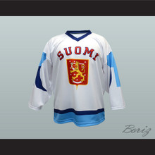 Finland Suomi National Team Hockey Jersey White