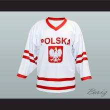 Wieslaw Jobczyk Team Polska Poland Hockey Jersey White