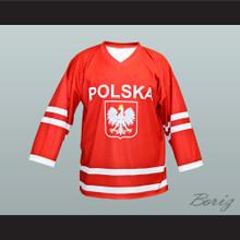 Wieslaw Jobczyk Team Polska Poland Hockey Jersey Red