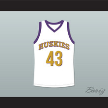 Marlon Wayans Kenny Tyler 43 Huskies Basketball Jersey The 6th Man White