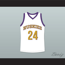 Kadeem Hardison Antoine Tyler 24 Huskies Basketball Jersey The 6th Man White