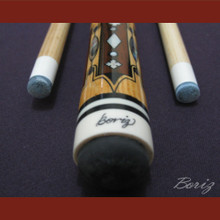 Boriz Billiards Snake Skin Grip Pool Cue Stick Original Inlay Artwork 019
