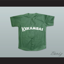 Keanu Reeves Coach Conor O'Neill Kekambas Baseball Jersey Hardball Dark Green