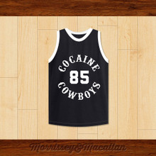 Cocaine Cowboys Powder 85 Basketball Jersey by Morrissey&Macallan