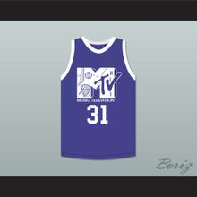 Reggie Miller 31 Basketball Jersey First Annual Rock N' Jock B-Ball Jam 1991