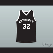 Monica Wright 32 Crenshaw High School Black Basketball Jersey Love and Basketball