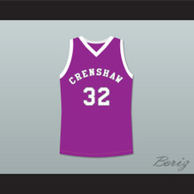 Monica Wright 32 Crenshaw High School Purple Basketball Jersey Love and Basketball