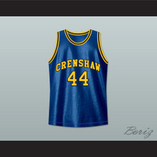 Kobe Bryant Terry Hightower 44 Crenshaw High School Blue Basketball Jersey Moesha