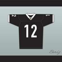 Tyler Cherubini 12 Miami Sharks White Trim Football Jersey Any Given Sunday Includes AFFA Patch