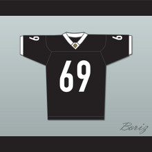 Patrick 'Madman' Kelly 69 Miami Sharks White Trim Football Jersey Any Given Sunday Includes AFFA Patch