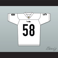 Luther 'Shark' Lavay 58 Miami Sharks White Football Jersey Any Given Sunday Includes AFFA Patch