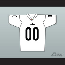 Sharks Mascot 00 Miami Sharks White Football Jersey Any Given Sunday Includes AFFA Patch
