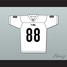 Jimmy Sanderson 88 Miami Sharks White Football Jersey Any Given Sunday Includes AFFA Patch