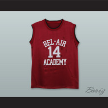 The Fresh Prince of Bel-Air Will Smith Bel-Air Academy Maroon Silk Basketball Jersey