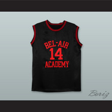 The Fresh Prince of Bel-Air Will Smith Bel-Air Academy Black Silk Basketball Jersey