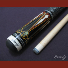 Boriz Billiards Linen Grip Pool Cue Stick Original Inlay Artwork 033