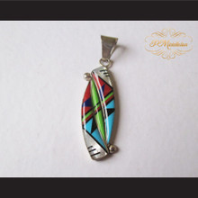 P Middleton Portal Pendant Sterling Silver .925 with Micro Inlay Stones