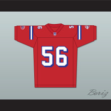 Jon Favreau Daniel Bateman 56 Washington Sentinels Home Football Jersey The Replacements Includes League Patch